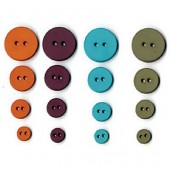 Artemio - Street Buttons, 36 pcs, 9-20mm