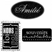 Mini tampons transparents Amitié