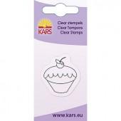 Mini tampon transparent cupcake