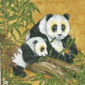 Napkin Pandas, 1 pce