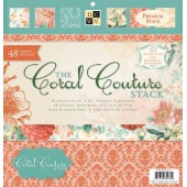 DCWV - Coral couture paper stack