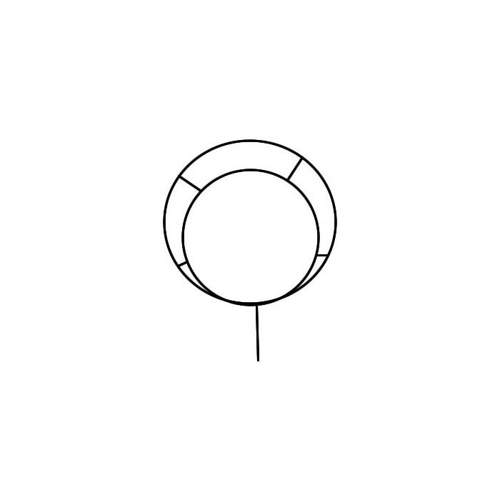Black metal frame Circle Ø40cm
