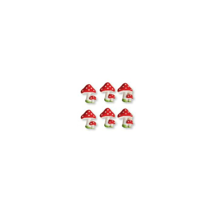 """Polyresin objects """"mushroom"""", red"""