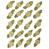 Petites roses sur noeud, 10mm/20pcs, crème