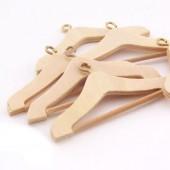 Mini wooden coat hanger, 5cm, 4 pcs