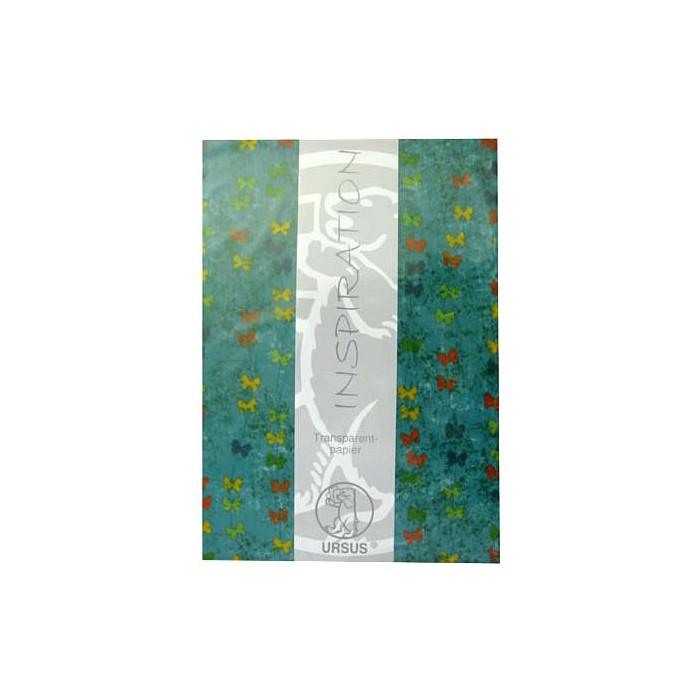 """Transparent paper """"Pardiso"""" turquese"""