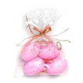 Plastic eggs, pink, 6 pcs, 5cm