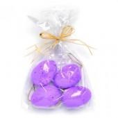 Plastic eggs, lilac, 6 pcs, 5cm