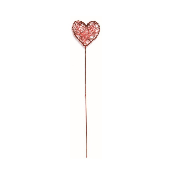 Wire heart, 5x20cm, red