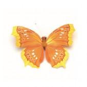 Papillon avec clip, 8cm, jaune foncé