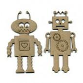 Robots, 2 pcs, 9.5x5cm