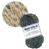 Machine felting wool, Tweed beige