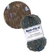 Machine felting wool, Tweed char