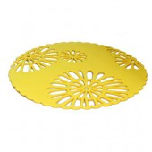 Placemat, yellow felt, 30cm