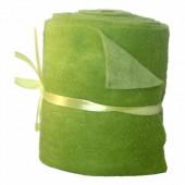Feutrine bicolore, vert/vert clair, 15x50cm