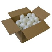 Batch of 50 white plastic eggs, 60mm