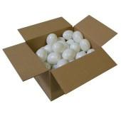 Lot de 50 oeufs en plastique blanc, 60mm