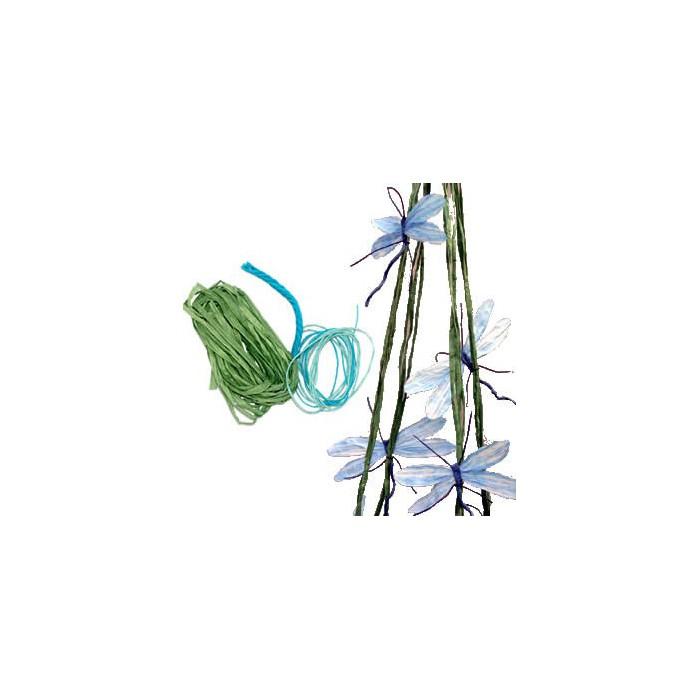 Kit paper yarn - Dragonflies, blue