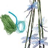 Kit ficelle de papier Libellules, bleu/turquoise