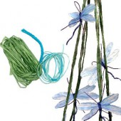 Kit paper yarn - Dragonflies, blue/turquese