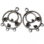 Pendant Earrings, 31mm, 2 pces
