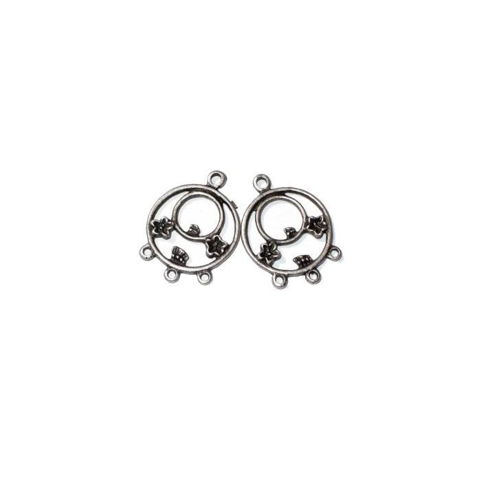 Pendant Earrings, 31mm, 2 pces
