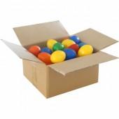 Batch of 50 coloured plastic eggs, 60mm