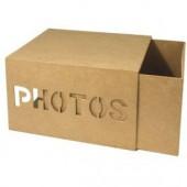 Boîte en carton pour photos, 22x17x12cm