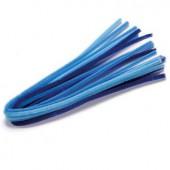 Chenilles (cure-pipe), 10 pièces, mix bleu