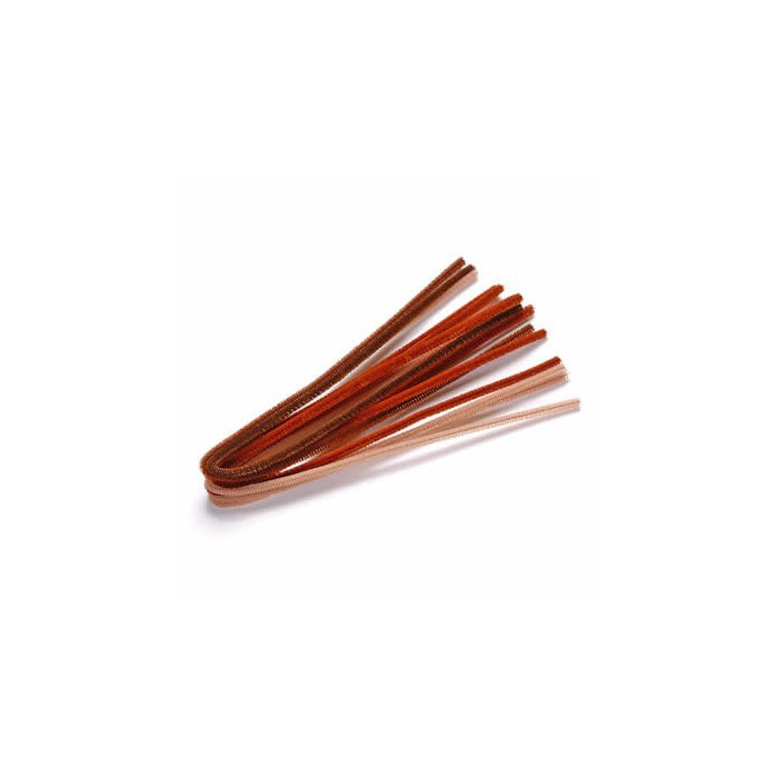 Pipe cleaners, 10 pces, brown mix