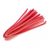 Chenilles (cure-pipe), 10 pièces, mix rouge