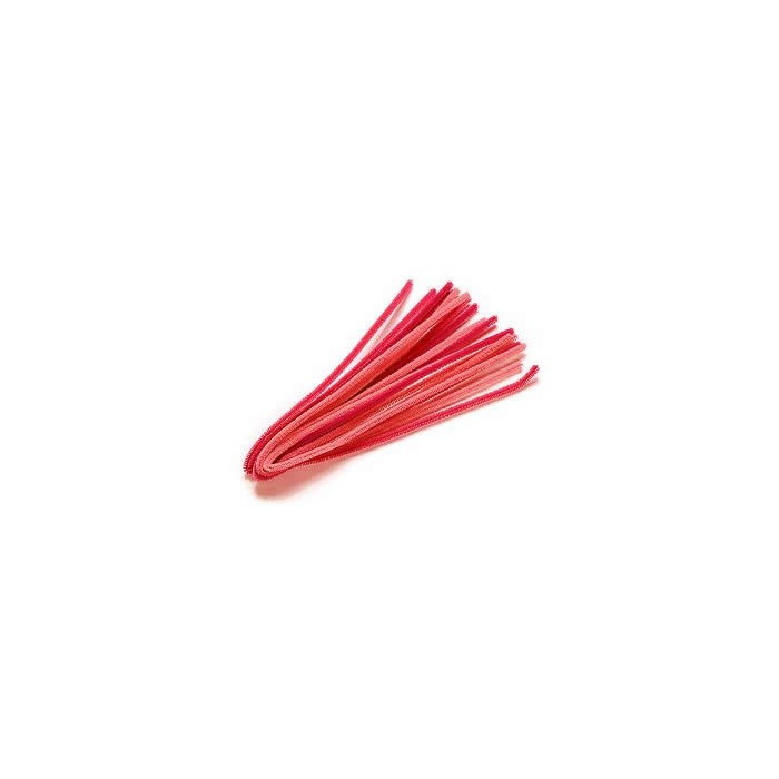 Pipe cleaners, 10 pces, red mix