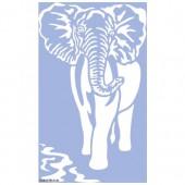 Stencil Elephant 40x66cm