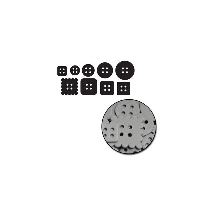 Maya Road - Chipboard Set Mini Buttons
