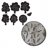 Maya Road - Chipboard Set Mini Trees