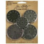 Tim Holtz - Cadrans d'horloge en métal