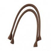 Anses de sac en cuir synthétique, 50.5x2.5cm, brun