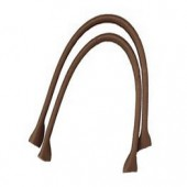 Synthetic leather bag handles 50.5x2.5cm, brown