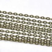 Chain, colour : bronze, 5x3mm, 2m
