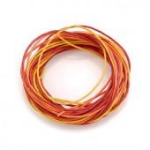 Waxed cord, red-orange, 3 pcs