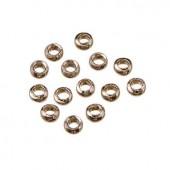 Perles à écraser en métal couleur platine, 2.8mm, 100 pcs
