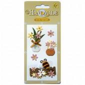 Handmade paper stickers, pattern 2
