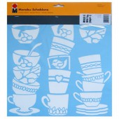 Stencil Lovely Cups 33x33cm