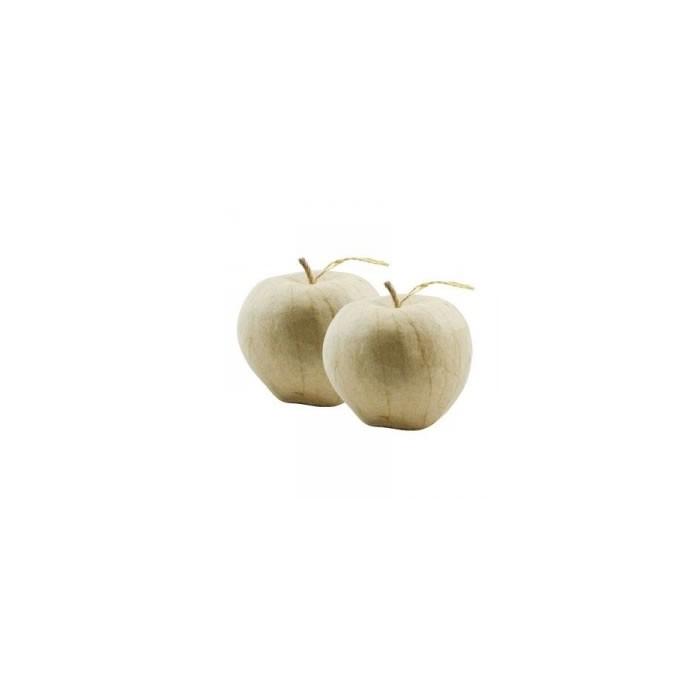 Cardboard apples  8cm, 2 pcs