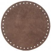 Alcantara bag base Ø18cm, brown