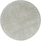 Alcantara bag base Ø18cm, grey