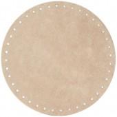 Alcantara bag base Ø18cm, beige