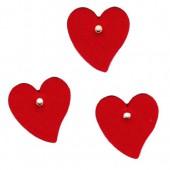 Coeurs en feutre avec oeillet, 50x50mm, rouge, 6 pcs