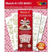 Doodley Match it - 3D-Cupcake cards