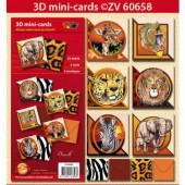 Doodley - Kit mini cartes 3D Afrique